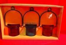 Pier 1 One Imports Hanging Lanterns Candle Holders Accessories Tea Light Red New