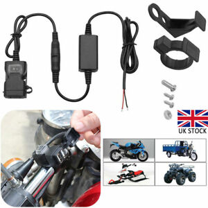 Dual USB Port Motorcycle Motorbike Charger Power Adapter Socket Waterproof Cover