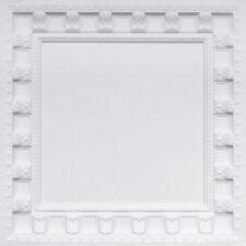 # 236 (Lot of 50) - White Matt 2'x2' PVC Decorative Ceiling Tile Drop In (Grid)