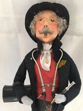 Byers' Choice Carolers Doctor with Medical Bag Stethescope Syringe 2002 Signed