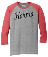 Mens Karma 3/4 Triblend Graphic Shirt