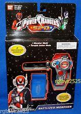 Power Ranger SPD RED Battlized Morpher New 2 Modes Lights & Sound Factory Sealed