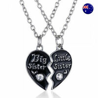 Women Girl Child Heart Big Little SISTER Necklace Gift for sisterhood sibling