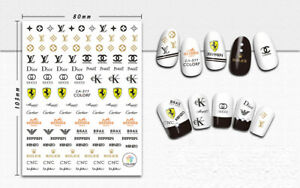 Nail Decal Stickers Nail Art Accessories Designer fashion decol self adhensive