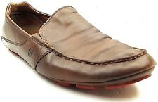 TSUBO Men's Driver Loafers Shoes Moccasins Brown Leather Moc Toe Size 11.5 US