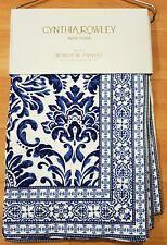 Cynthia Rowley Blue Porcelain Moroccan Window Curtain Panels 42x96 PAIR