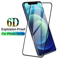 For iPhone 12/ Pro/ Max/ 11/ X / 7/ 8 Full Cover Tempered Glass Screen Protector