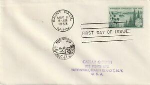 1958 USA FDC cover 100th Anniversary Minnesota