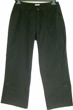 Straight Leg Low Rise Capri, Cropped Trousers for Women