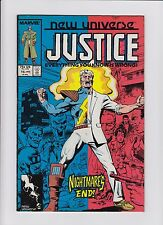 NEW UNIVERSE JUSTICE #15 NIGHTMARE'S END! MARVEL COMIC JAN 1988 FINE CONDITION