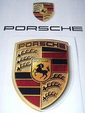 New Genuine OEM Porsche Crest Bonnet Badge Sticker Decal 911 Boxster Cayman 944