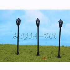 10pcs N Gauge 1:150 Scale Model Lamppost Light for DIY Train Street Scene Layout