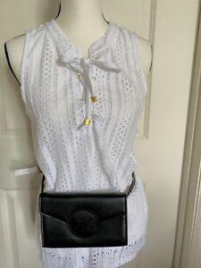 MICHAEL KORS Fanny Pack Belt MK Logo Bag 556136C Size S/M Black Leather NWT