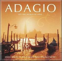ADAGIO - LET THE WORLD BE STILL various (2x CD Compilation) Classical, very good