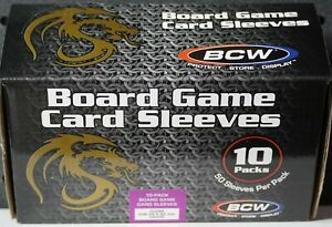 (500) Board Game Sleeves BCW Standard Euro Size 59x92mm Clear (500ct. Box)