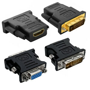Gold Plated DVI-D to HDMI Converter 15 pin DVI-I Male to VGA Female Adapter
