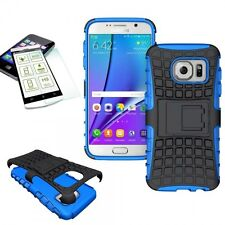 Hybrid Coque Protectrice 2 pièces Bleu Pour Samsung Galaxy S7 G930 G930F+H9