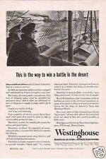 1943 VINTAGE AD Westinghouse way to win a battle WW II