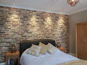Autumn Blend Brick Slips, Wall Cladding, Feature Wall, Brick Tiles SAMPLE