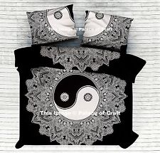 Queen Hippie Indian Decor Throw Bedspread Yin Yang Mandala Bedsheet Coverlet