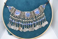 Vintage Kuchi Alpaca Silver and Lapis Necklace 40+ Years Old