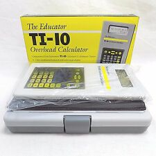 Overhead Projector Calculator The Educator TI-10 NO. 250 School Supplies Teacher