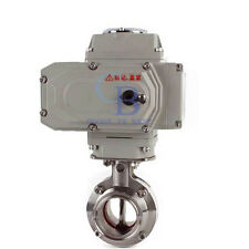 "1.5"" Stainless Steel 304 Sanitary Motorized Butterfly Valve Tri Clamp 110VAC"