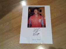signed card on A4 sheet 7x5 photo of  ex stoke city  footballer demar phillips