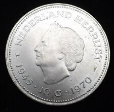 1970 Netherlands Silver 10 Gulden Coin