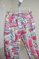 Talbots Stretch Cotton Blend Multi-Colored Capris Pants Size - 10P