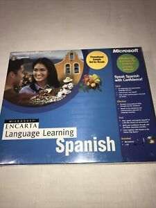 Microsoft Language Learning Encarta Spanish Software 1 CD 1 Microphone New