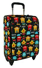 Monster Carry On Spinner Luggage Suitcase Rolling Wheeled Lightweight Travel