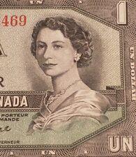 1954 Canada $1. DEVIL FACE Banknote.