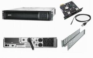APC SMT2200RM2UNC Smart-UPS 2200VA 1980W 120V 2U Power Backup AP9631 SMT2200RM2U