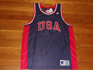 NEW CHAMPION USA #9 BASKETBALL JERSEY MENS MEDIUM