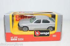 BBURAGO BURAGO 4158 BMW 535I 535 I METALLIC GREY MINT BOXED.