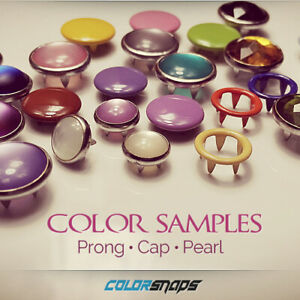 Color Samples | Ring Prong Snaps • Capped Snaps • Pearl Snaps • No Sew Buttons