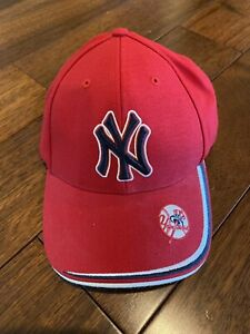New York Yankees Baseball Hat, New With Sticker, Red Blue Embroidered Logo Bill