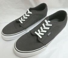 Vans Chukka Low Skate Shoes Charcoal/White Ultra Cush HD Footbeds M11/W12.5 NWOB