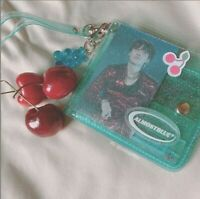 [ALMOSTBLUE] TWINKLE Jelly Transparent Wallet with necklace AQUA BLUE