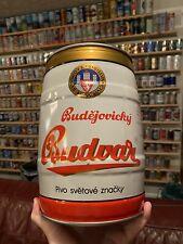 """Rare Czech 5 Liter Beer Can/Keg - Budweiser Budvar """"Bier Ohne Beispiel�"""