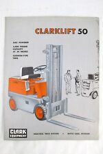Vintage 1950s Clark Equipment CLARKLIFT 50 Forklift Truck Sales Brochure Ad