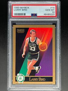 1990 Skybox Larry Bird PSA 10 Gem Mint #14 Celtics