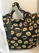 MARC by MARC JACOBS  Nylon Quilted Handbag with Lips Print