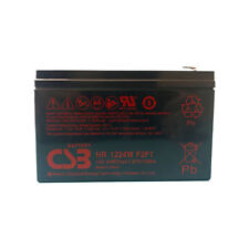 New 2018 CSB HR1224WF2F1 12v 6.4Ah 24W SLA Battery Replaces BB CPS5.5-12