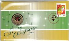 2012 CHRISTMAS STAMP FIRST DAY COVER PERTH MINT $1 COIN PNC