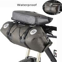 RockBros Waterproof Bike Handlebar&Roll Bags Front Storage Pannier LargeCapacity