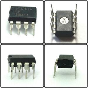 5PCS National Semiconductor LM386N-1/NOPB LM386N-1 LM386 Low Power Audio Amp IC