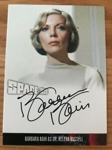 SPACE 1999 SERIES 4: AUTOGRAPH CARD: BARBARA BAIN AS DR. HELENA RUSSELL BB3