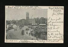 Glos Gloucestershire BRISTOL St Augustine's Parade Trams 1903 u/b PPC